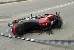 Accident grav în Prahova. Un motociclist a fost rănit