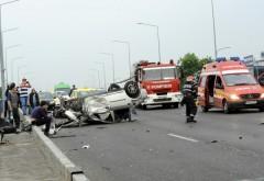 Accident MORTAL pe DN1, la Floresti. Un autoturism a fost spulberat de o cisterna