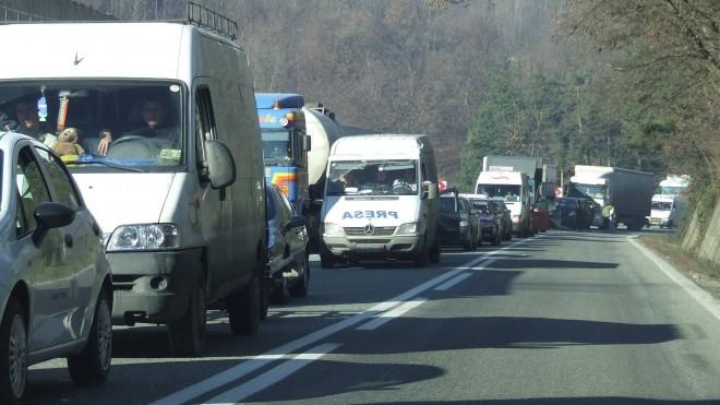 Trafic îngreunat pe DN1, Valea Prahovei