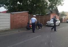 Un bărbat beat a lovit o maşină de Poliţie pe strada Boldescu