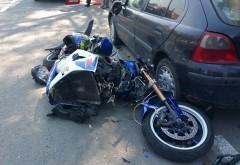 Accident la Bucov. Un motociclist a fost lovit de masina