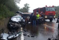 Accident TERIBIL pe DN1, la Nistorești. Un Porsche a intrat pe contrasens