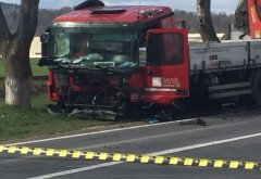 Accident cu un autocamion pe DN1, la Comarnic