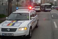 Mașină de poliție, implicată într-un accident în centrul Ploieștiului