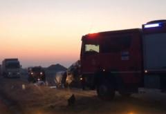Accident grav de circulație pe DN6. Doi oameni au murit, 12 au fost răniți. Planul roșu de intervenție a fost activat
