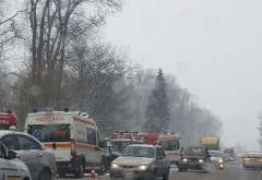 Accident la Romanesti. 3 masini sunt implicate