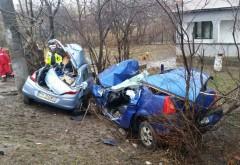IMAGINI FOTO SI VIDEO de la accidentul petrecut la Romanesti. O persoana a decedat
