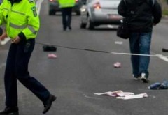 Pieton lovit de maşină, la Brazi