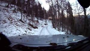 Drumul către Cota 1400, închis din cauza zăpezii abundente