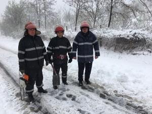 UPDATE Drum BLOCAT de zăpadă şi copaci, la Jugureni- FOTO
