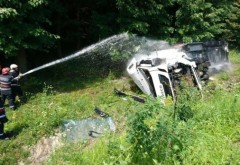 Trafic reluat pe autostrada A 3, după ce o cisternă cu 32 de tone de combustibil s-a răsturnat