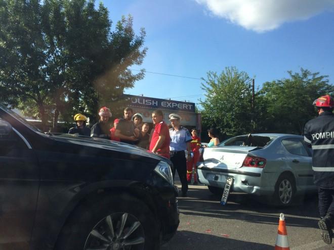 Accident cu 3 masini in Bereasca