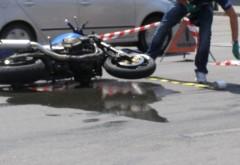Accident pe DN1, la iesire din Busteni. Un motociclist a fost lovit de masina
