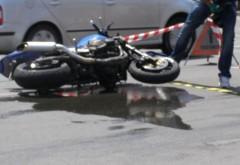 Accident la Barcanesti. Un motociclist a fost lovit de masina