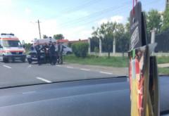 Accident cu trei masini, la Valea Calugareasca. Trafic ingreunat