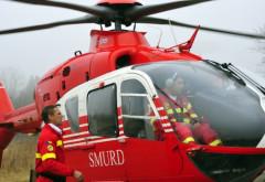 Copilul de șase ani ranit in accidentul de la Potigrafu a fost preluat de elicopterul SMURD