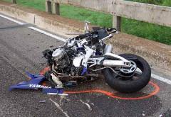 Accident rutier pe DN1, aproape de Posada. Un motociclist a fost spulberat de masina