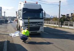 Accident mortal in Prahova, pe DN 1B. Un pieton a fost spulberat de TIR
