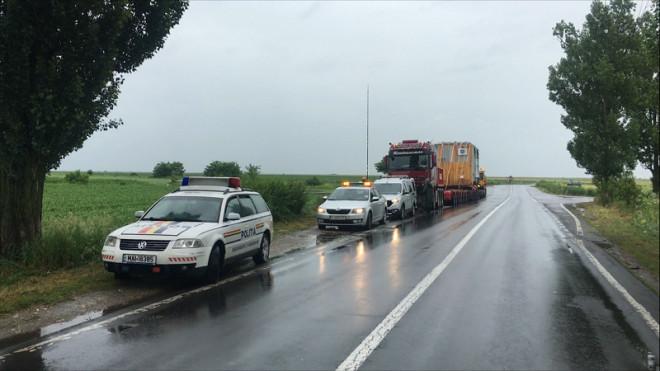 Atenție șoferi! Un utilaj de 347 de tone va fi transportat de la Oltenița la Ploiești. Circulatie INCHISA pe Centura de Vest