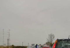 Accident CUMPLIT pe DN1, la Potigrafu: 3 persoane sunt INCARCERATE. Trafic BLOCAT