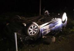 Accident CUMPLIT azi noapte, la Valea Calugareasca. O persoana a ramas INCARCERATA