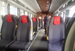 FOTO   Cum arată vagonul modern, cu internet şi aer condiţionat, care face parte dintr-o campanie de susţinere a CFR, pentru obţinerea unor investiţii