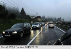 Trafic intens pe Valea Prahovei. Se circula in coloana in zona Comarnic