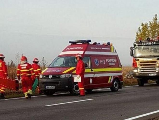 Accident rutier pe DN1, la Potigrafu. Trei persoane au fost transportate la spital