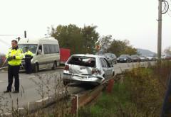 Accident la Albesti. Un TIR a lovit un autoturism care oprise la trecerea pentru pietoni