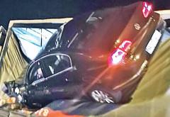 Accident in Ploiesti, pe strada Cantacuzino. O masina a intrat intr-un TIR parcat in zona Coca Cola