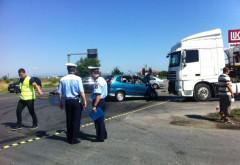 Accident pe Centura de Vest, in giratoriul de la Strejnic. Trei victime