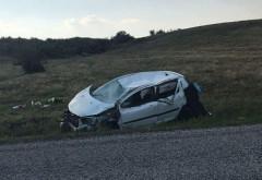 Accident pe DN 1B, la Loloiasca. O masina a iesit in decor