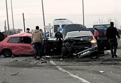 Accident cu 4 masini pe DN 72, la Aricesti. Trafic ingreunat pe sensul spre Targoviste