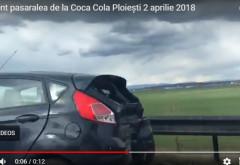 Accident pe podul de langa Coca-Cola. Trei masini implicate