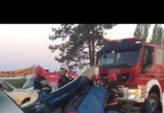 Accident GRAV pe DN 1, la Tancabesti. Trei masini s-au facut zob, doua victime in stare grava