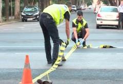 Accident pe strada Andrei Muresanu din Ploiesti. Un pieton a fost lovit de masina