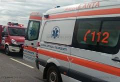Accident pe DN1, la Comarnic. O masina a intrat in parapet