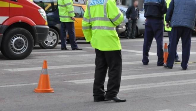 Accident pe Soseaua Vestului, in zona ACR. Un pieton a fost lovit de masina