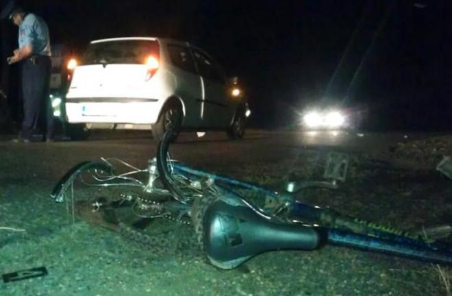 Biciclist lovit mortal de masina, la iesirea din Mizil spre Baba Ana