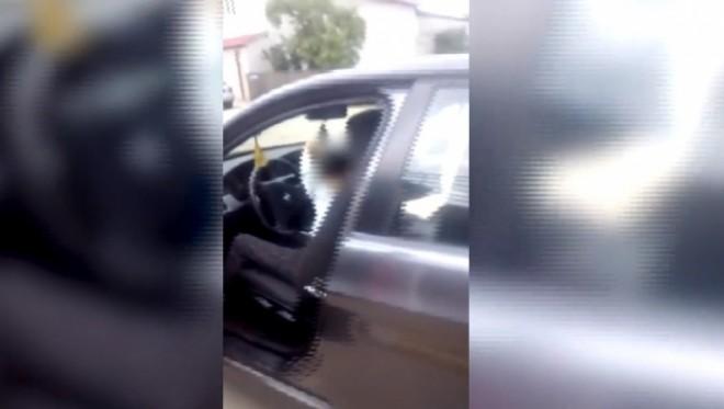 Copil de 10 ani, filmat în timp ce conducea pe străzile din municipiu VIDEO