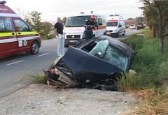 Accident la Ciorani, soldat cu doua victime. O masina a intrat intr-un cap de pod