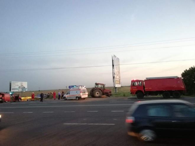 Accident grav, cu descarcerare, pe DN1, in Baicoi