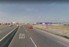 Accident langa Ploiesti Shopping City. Un auto a intrat in parapet