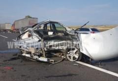 Accident grav pe DN2 (E85): O persoană a murit şi două sunt grav rănite