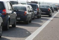 Accident cu 3 masini pe DN1, la Movila Vulpii