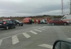 Accident pe DN1, la intersectia cu Floresti. Trei masini implicate