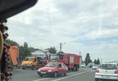 Accident pe DN1, in Puchenii Mari. Doua masini implicate