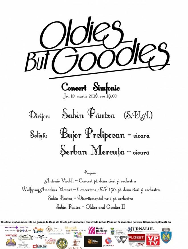 "CONCERT ""Oldies but Goodies"" la Filarmonica din Ploieşti"