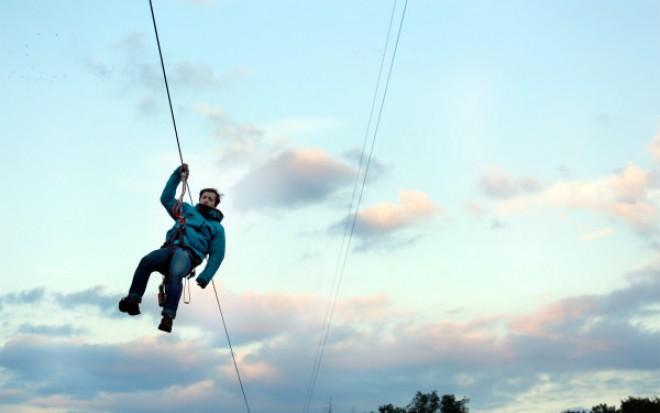 Cea mai tare distractie din Brasov. Plimbati-va deasupra lacului, sute de metri, pentru o senzatie unica