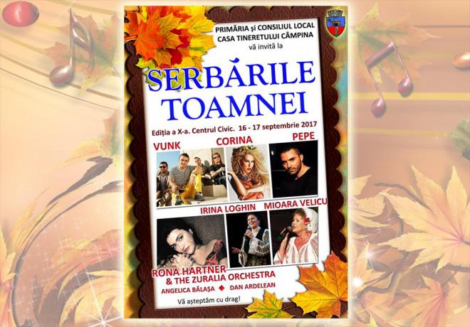 """Programul complet al Festivalului """"Serbările Toamnei"""" Câmpina 2017"""